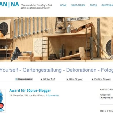 LiebsterAward50plus auf dem Blog Antik Natur