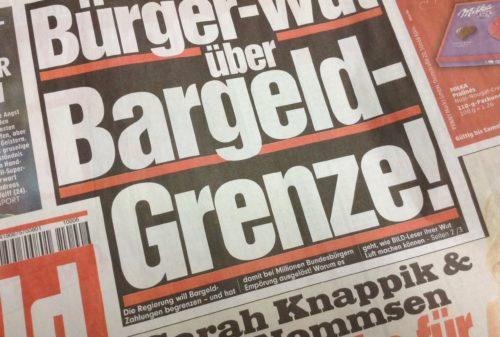 """Bild"" Bürger-Wut über Bargeld-Grenze"