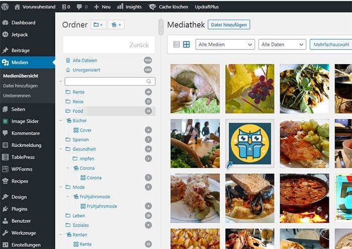 Wordpress Real Media Library Plugin