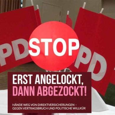Der Verein der Direktvericherungsgeschädigten geht gegen die Abzocke durch Staat und Krankenkassen auf die Barrikaden Foto: vorunruhestand