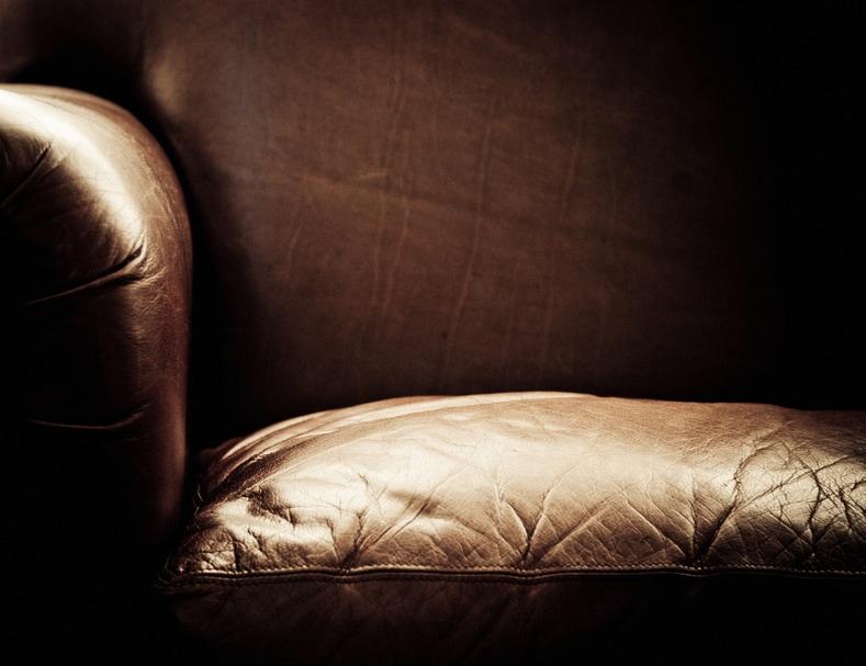 Leder wirkt durch seine Patina und ist ein Blickfang im Wohnzimmer istock.com/Valentin Casarsa