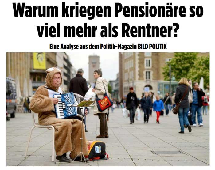 Pensionäre sind besser gestellt als Rentner