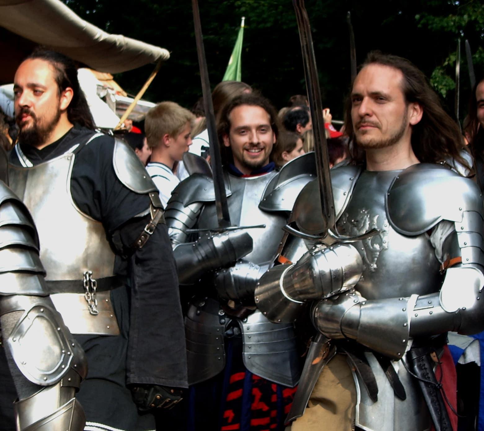 Ritter während der Kaltenberger Ritterspiele