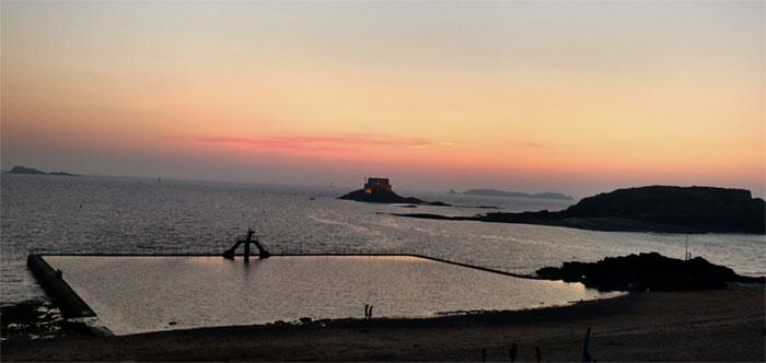 Sonnenuntergang in Saint-Malo